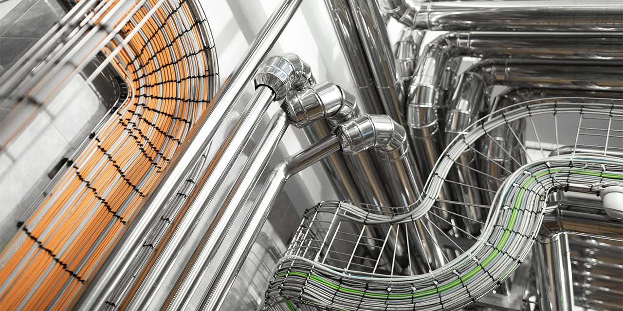 denatec-steel-pipelines-and-cables-in-factory-interior-as-chemical-industry-background-concept